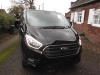 USED 2018 68 FORD TRANSIT CUSTOM 2019  New Shape T280 L1 H1, 130 Limited, Metallic Black in Stock