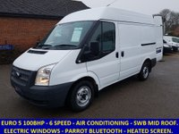 2012 FORD TRANSIT 280 SWB MID ROOF EURO 5 100BHP WITH AIR CON £6995.00
