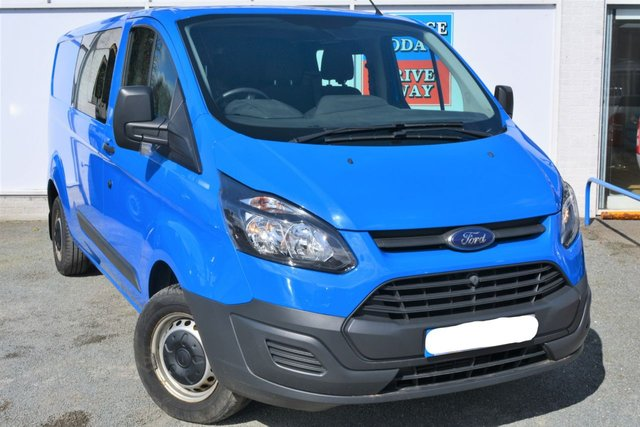 2014 64 FORD TRANSIT CUSTOM 2.2 310 Double Cab Great Value Van with 6 Seats