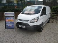 USED 2014 14 FORD TRANSIT CUSTOM 2.2 TDCI, 270 SHORT WHEEL BASE, LOW ROOF, BLUETOOTH, ELEC WINDOWS, SHELVING IN REAR CUSTOM TRANSIT ONE OWNER