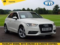 USED 2013 63 AUDI A3 1.4 TFSI SPORT 3d 121 BHP Fitted with the economical, cheap to insure and smooth 1.4 petrol engine in this face lift model 2013 Audi A3 1.4 120 SPORT 3dr, finished in white and priced to sell at just £8199. 1 keeper, 4 main dealer services.