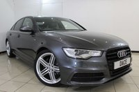 USED 2014 64 AUDI A6 S LINE BLACK EDITION 2.0 TDI ULTRA 4DR 188 BHP LEATHER SEATS + CRUISE CONTROL + PARKING SENSOR + BLUETOOTH + MULTI FUNCTION WHEEL + CLIMATE CONTROL + 20 INCH ALLOY WHEELS