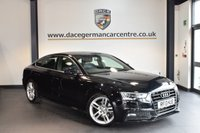 USED 2013 13 AUDI A5 2.0 SPORTBACK TDI S LINE 5DR 177 BHP + FULL BLACK LEATHER INTERIOR + SERVICE HISTORY + BLUETOOTH +HEATED SPORT SEATS + PARKING SENSORS + RAIN SENSOR + 17 INCH ALLOY WHEELS +