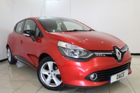 USED 2015 15 RENAULT CLIO 1.5 DYNAMIQUE MEDIANAV ENERGY DCI S/S 5DR 90 BHP SERVICE HISTORY + SAT NAVIGATION + BLUETOOTH + CRUISE CONTROL + MULTI FUNCTION WHEEL + CLIMATE CONTROL + 16 INCH ALLOY WHEELS