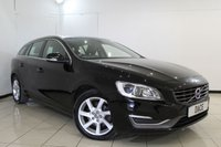 USED 2014 14 VOLVO V60 2.0 D4 SE LUX 5DR 178 BHP FULL SERVICE HISTORY + LEATHER SEATS + BLUETOOTH + PARKING SENSOR + CRUISE CONTROL + MULTI FUNCTION WHEEL + CLIMATE CONTROL + 17 INCH ALLOY WHEELS