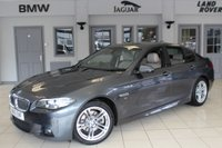 USED 2016 16 BMW 5 SERIES 2.0 520D M SPORT 4d AUTO 188 BHP BMW SERVICE HISTORY + FULL OYSTER CREAM LEATHER SEATS + PRO SAT NAV + REVERSE CAMERA + £30 ROAD TAX + BLUETOOTH + HEATED FRONT SEATS + 18 INCH ALLOYS + DAB RADIO + CRUISE CONTROL