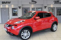 USED 2015 15 NISSAN JUKE 1.5 ACENTA DCI 5d 110 BHP FULL SERVICE HISTORY + BLUETOOTH + £20 ROAD TAX + 17 INCH ALLOYS + LED DAY TIME RUNNING LIGHTS + CRUISE CONTROL + ELECTRIC WINDOWS