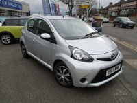 USED 2013 13 TOYOTA AYGO 1.0 VVT-I ICE 5d 68 BHP Low Mileage & Full Service History