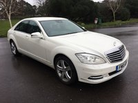 USED 2010 10 MERCEDES-BENZ S CLASS 3.5 S350 4d AUTO 272 BHP TOP SPEC IN WHITE RARE AND DESIRABLE IN PETROL ONLY 70000 BACKED UP BY FSH