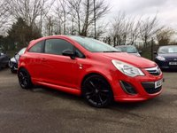 2012 VAUXHALL CORSA 1.2 LIMITED EDITION 3d  ONE OWNER FROM NEW WITH 5 MAIN DEALER SERVICE STAMPS £5750.00