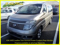 USED 2002 02 NISSAN ELGRAND XL 3.5 Auto 4 Wheel Drive, 7 Seat with Leather,Sunroof and Power Curtains +63K+4WD+POWER CURTAINS+SUNROOF+