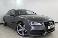 USED 2014 14 AUDI A7 3.0 BITDI QUATTRO 313 BLACK ED 5DR TIP AUTO [5ST] SERVICE HISTORY + FRONT AND REAR HEATED LEATHER SEATS + HEAD-UP DISPLAY + SAT NAVIGATION + 360 DEGREE REVERSE CAMERA + ELENTCTRIC SUNROOF + BLUETOOTH + CRUISE CCOROL + MULTI FUNCTION WHEEL + CLIMATE ONTROL + 21 INCH ALLOY WHEELS