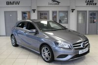 USED 2013 63 MERCEDES-BENZ A CLASS 1.5 A180 CDI BLUEEFFICIENCY SPORT 5d 109 BHP HALF BLACK LEATHER SEATS + FULL SERVICE HISTORY + BLUETOOTH + 18 INCH ALLOYS + £20 ROAD TAX + AIR CONDITIONING + RAIN SENSORS