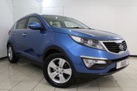 USED 2012 62 KIA SPORTAGE 2.0 CRDI KX-2 5DR 134 BHP FULL SERVICE HISTORY + HALF LEATHER SEATS + DOUBLE SUNROOF + PARKING SENSOR + CRUISE CONTROL + MULTI FUNCTION WHEEL + AIR CONDITIONING + 17 INCH ALLOY WHEELS