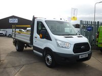 2015 FORD TRANSIT 2.2 350 Dropside  DRW  125 BHP Dab  radio electric Windows and much more  £16495.00