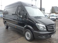 USED 2015 15 MERCEDES-BENZ SPRINTER 313 CDI MWB HI ROOF, 130 BHP [EURO 5], FULL SERVICE HISTORY, 1 COMPANY OWNER