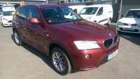 2011 BMW X3 2.0 XDRIVE20D SE 5 DOOR AUTOMATIC 181 BHP IN METALLIC RED WITH 94000 MILES £10990.00