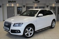 USED 2009 09 AUDI Q5 2.0 TDI QUATTRO S LINE 5d 168 BHP FULL LEATHER SEATS + FULL SERVICE HISTORY + SAT NAV + ELECTRIC TAILGATE + BLUETOOTH + 19 INCH ALLOYS + XENON HEADLIGHTS + CRUISE CONTROL + REAR PARKING SENSORS + AIR CONDITIONING