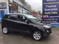 2015 FORD ECOSPORT 1.5 TITANIUM TDCI 5d 88 BHP, only 19500 miles £9995.00