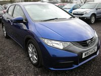 USED 2013 13 HONDA CIVIC 1.3 I-VTEC SE 5d 98 BHP 1 previous owner - Economical