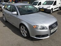 USED 2006 56 AUDI A4 2.0 AVANT T FSI S LINE 5 DOOR ESTATE AUTOMATIC 197 BHP IN SILVER WITH ONLY 87000 MILES APPROVED CARS ARE PLEASED TO OFFER THIS AUDI A4 2.0 AVANT T FSI S LINE 5 DOOR ESTATE AUTOMATIC PETROL 197 BHP IN SILVER WITH A GREAT SPEC INCLUDING HEATED LEATHER SEATS,AIR CON,CD,ALLOYS,SAT NAV AND MUCH MORE WITH A DOCUMENTED SERVICE HISTORY A VERY RARE FAMILY ESTATE CAR.