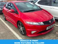 USED 2008 08 HONDA CIVIC 2.0 I-VTEC TYPE-R GT 3d 198 BHP FULL SERVICE HISTORY! STUNNING MILANO RED! GT SPEC WITH DUAL CLIMATE! AUTO LIGHTS! AUTO WIPERS! SUPERB DRIVE!