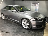USED 2013 13 JAGUAR XF 3.0 D V6 S PORTFOLIO 4d AUTO 275 BHP Bluetooth : Sat Nav : DAB Radio   :   Full leather upholstery   :   Heated/ Cooling front seats   :   Heated screen   : Elec driver + passenger seats    :    Meridian sound system    :    Paddleshift controls    : Reversing camera  :  Front + rear parking sensors  :  Full Jaguar service history