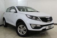 USED 2014 14 KIA SPORTAGE 1.6 1 5DR 133 BHP FULL KIA SERVICE HISTORY + CRUISE CONTROL + MULTI FUNCTION WHEEL + AIR CONDITIONING + RADIO/CD + 16 INCH ALLOY WHEELS