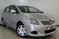 USED 2010 10 TOYOTA VERSO 1.6 T2 VALVEMATIC 5DR 130 BHP SERVICE HISTORY + PARKING SENSOR + MULTI FUNCTION WHEEL + AIR CONDITIONING + RADIO/CD + ELECTRIC WINDOWS
