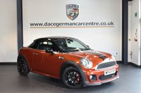 USED 2013 63 MINI COUPE 1.6 JOHN COOPER WORKS 2DR 208 BHP + HALF BLACK LEATHER INTERIOR + FULL BMW SERVICE HISTORY + BLUETOOTH + DAB RADIO + HEATED SPORT SEATS + PARKING SENSORS + 17 INCH ALLOY WHEELS +