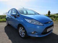 USED 2009 59 FORD FIESTA 1.2 ZETEC 5d 81 BHP Full Service History, 2 Owners