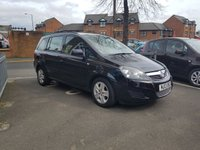USED 2013 13 VAUXHALL ZAFIRA 1.6 EXCLUSIV 5d 113 BHP 7 SEATER WITH FULL SERVICE HISTORY (4 SERVICES AT 4 MAIN DEALERS). SPECIFICATION INCLUDES AIR CONDITIONING, REMOTE CENTRAL LOCKING, AND AUXILLIARY/USB INPUT!