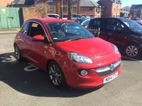 USED 2014 14 VAUXHALL ADAM 1.2 JAM 3d 69 BHP CHEAP TO RUN AND VERY ECONOMICAL!! WITH LOW CO2 EMISSIONS..LOW ROAD TAX(124G/KM)..FULL HISTORY(3 SERVICES AT 2 MAIN DEALERS)..ONLY 5472 MILES FROM NEW! GOOD SPECIFICATION WITH ALLOY WHEELS AND AIR CONDITIONING!