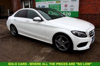 USED 2016 16 MERCEDES-BENZ C CLASS 2.1 C220 D AMG LINE PREMIUM 4d AUTO 170 BHP +Fully OPENABLE PANORAMIC Roof