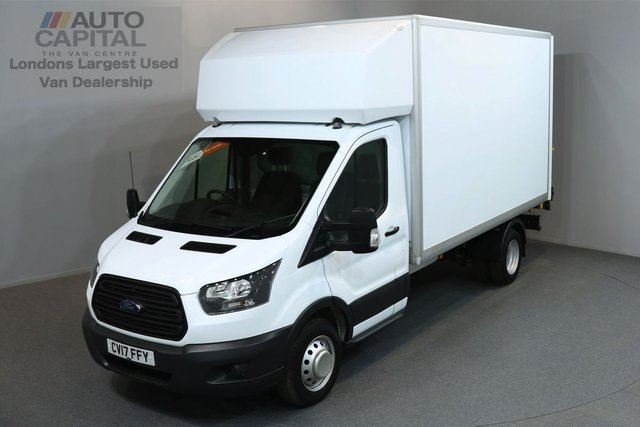 2017 17 FORD TRANSIT 2.0 350 168 BHP L3 LWB REAR TAIL LIFT FITTED LUTON VAN E6 ONE OWNER FROM NEW, MANUFACTURER WARRAN TILL 15/03/2020, E6