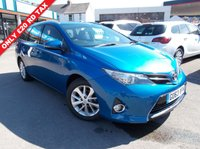 USED 2013 63 TOYOTA AURIS 1.4 ICON D-4D 5d 89 BHP 12 MONTHS MOT. 6 MONTHS  WARRANTY only £20 per year rd tax