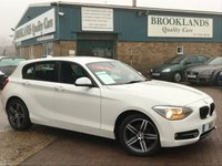 2014 BMW 1 SERIES 1.6 116I SPORT 5 Door 135 BHP White with Sports Seats only 23735 miles £12495.00