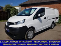 2013 NISSAN NV200 ACENTA WITH AIR CON & FULL HISTORY FROM BRITISH GAS £6495.00