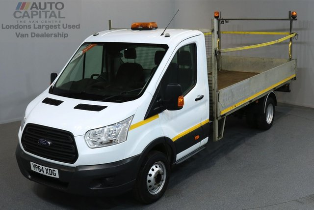 2014 64 FORD TRANSIT 2.2 350 124 BHP L4 EXTRA LWB DROPSIDE LORRY  ONE OWNER FROM NEW, L4, EXTRA LONG WHEELBASE