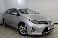 USED 2014 14 TOYOTA AURIS 1.4 ICON D-4D 5DR 89 BHP TOYOTA SERVICE HISTORY + BLUETOOTH + MULTI FUNCTION WHEEL + AIR CONDITIONING + RADIO/CD + 16 INCH ALLOY WHEELS