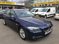 USED 2010 60 BMW 5 SERIES 2.0 520D SE 4 DOOR 181 BHP IN MET BLUE 6 SPEED MANUAL APPROVED CARS ARE PLEASED TO OFFER THIS BMW 5 SERIES 2.0 520D SE 4 DOOR 181 BHP IN MET BLUE 6 SPEED MANUAL WITH A FULL SERVICE HISTORY AND 5 SERVICE STAMPS IN THE SERVICE BOOK IN IMMACULATE CONDITION WITH CREAM LEATHER AND A GREAT SPEC INCLUDING FULL LARGE SCREEN SAT NAV,ALLOYS AND MUCH MORE.