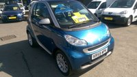 USED 2010 59 SMART FORTWO 1.0 PASSION 2 DOOR AUTOMATIC 84 BHPIN MET BLUE WITH ONLY 17000 MILES APPROVED CARS ARE PLEASED TO OFFER THIS SMART FORTWO 1.0 PASSION 2 DOOR AUTOMATIC 84 BHP IN MET BLUE WITH ONLY 17000 MILES IN IMMACULATE CONDITION INSIDE AND OUT WITH A GREAT SPEC INCLUDING A FULL LEATHER INTERIOR,SAT NAV,BLUETOOTH AND A PANORAMIC SUN ROOF WITH A FULL SERVICE HISTORY  A TRULY IMMACULATE SMART CAR.
