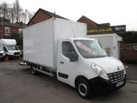 2014 RENAULT MASTER 2.3 LL35 DCI LARGE VOLUME BOX +ALLOY TAIL LIFT SIDE RAILS  ONE COMPANY OWNER FULL HISTORY 14 FT BOX   125 BHP,,, ,,,,MORE BOX VANS IN STOCK,,,, £7995.00