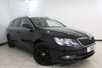 USED 2014 64 SKODA SUPERB 2.0 BLACK EDITION TDI CR 5DR 138 BHP SERVICE HISTORY + HEATED LEATHER SEATS + SAT NAVIGATION + PARKING SENSOR + BLUETOOTH + CRUISE CONTROL + MULTI FUNCTION WHEEL + 17 INCH ALLOY WHEELS