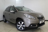 USED 2014 14 PEUGEOT 2008 1.6 E-HDI ALLURE 5DR 92 BHP FULL SERVICE HISTORY + HALF LEATHER SEATS + SAT NAVIGATION + PARKING SENSOR + BLUETOOTH + CRUISE CONTROL + MULTI FUNCTION WHEEL + CLIMATE CONTROL + AIR CONDITIONING + 16 INCH ALLOY WHEELS