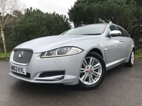 USED 2014 63 JAGUAR XF 2.2 D LUXURY SPORTBRAKE 5d AUTO 163 BHP PERFECT LOW MILEAGE XF ESTATE WITH 34000 MILES 2 OWNERS AND FULL JAG HISTORY
