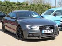 USED 2015 15 AUDI A5 3.0 TDI S LINE BLACK EDITION PLUS 2d AUTO 204 BHP AUTOMATIC + ELECTRIC PANORAMIC SUNROOF