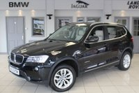 USED 2013 13 BMW X3 2.0 XDRIVE20D SE 5d AUTO 181 BHP FULL OYSTER CREAM LEATHER SEATS + 360 DEGREE REVERSE CAMERA + BLUETOOTH + XENON HEADLIGHTS + HEATED FRONT SEATS + DAB RADIO + CRUISE CONTROL