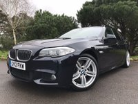 USED 2012 12 BMW 5 SERIES 2.0 520D M SPORT TOURING 5d AUTO 181 BHP GREAT COLOUR SCHEME IIN BLACK WITH FULL CREAM LEATHER SAT NAV AUTO FULL BMW SERVICE HISTORY