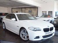 USED 2011 60 BMW 5 SERIES 3.0 525D M SPORT 4d AUTO 202 BHP PRO NAV+XENONS+BLK LTHR+FSH